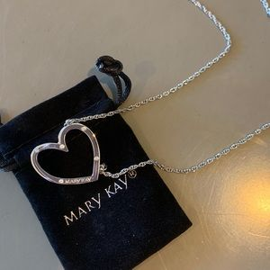 Mary Kay Silver Heart Necklace